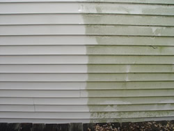 Siding Power Washing - before & after